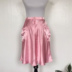 Pink Skater Skirt with Pockets